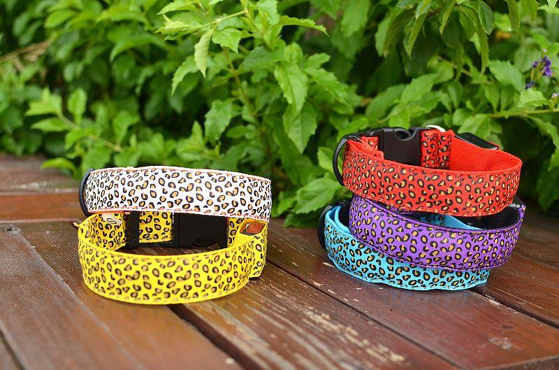 Pet Dog LED Collar Glow Cat Collars Flashing Nylon Light Up Training Collar for dogs 3 Sizes