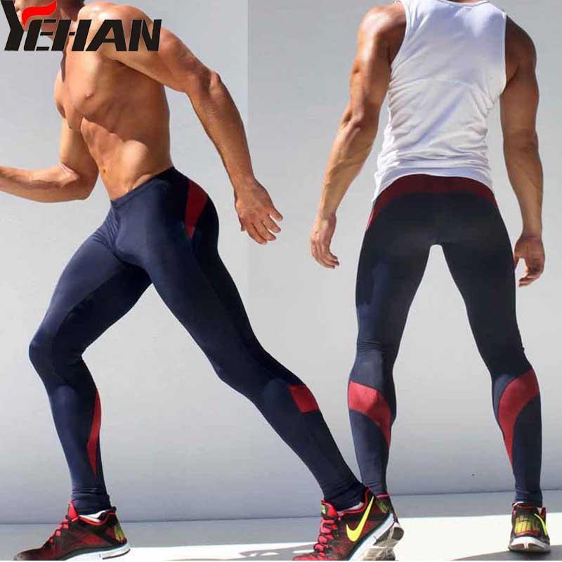 150a4cb1d1ac39 2019 Wholesale Compresion Pants Men Sport Runing Pants Elastic Joggers  Spandex Tights Men Sweatpants Low Rise Leggings Fitness Men Skinny Yoga From  Shinny33 ...