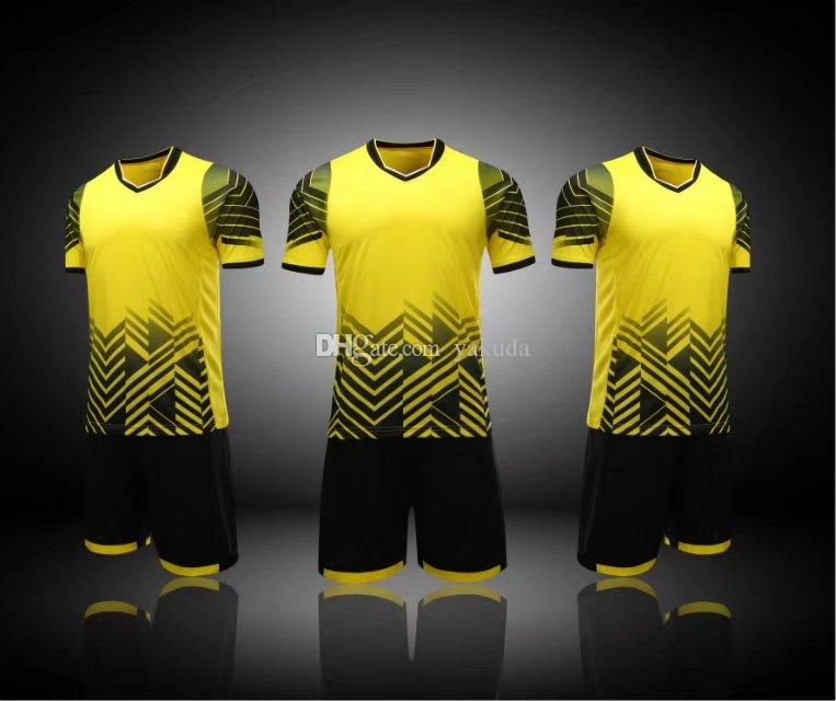 8560d4f7556 2019 2018 New Mens Custom Team Soccer Jerseys Tops With Shorts ...