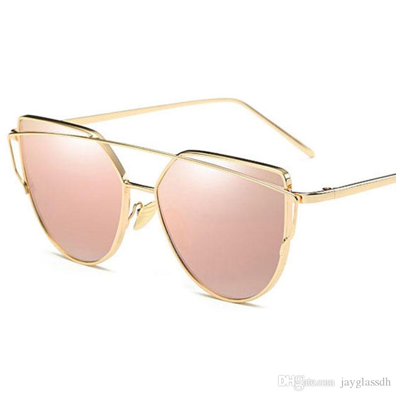 42318db7464 Best Hot Fashion Brand Women Sunglasses Gold Glasses Cat Eye Glasses HD  Mirror Pink Sunglasses Female Vintage Eyewear Travel Party Wholesale Eyewear  ...