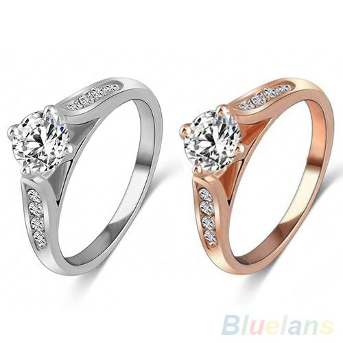 2018 Women Bridal Wedding Engagement Zircon Gem Delicate Rose Gold Alloy  Ring 2KMZ From Yutong20161102 560379c19cb0