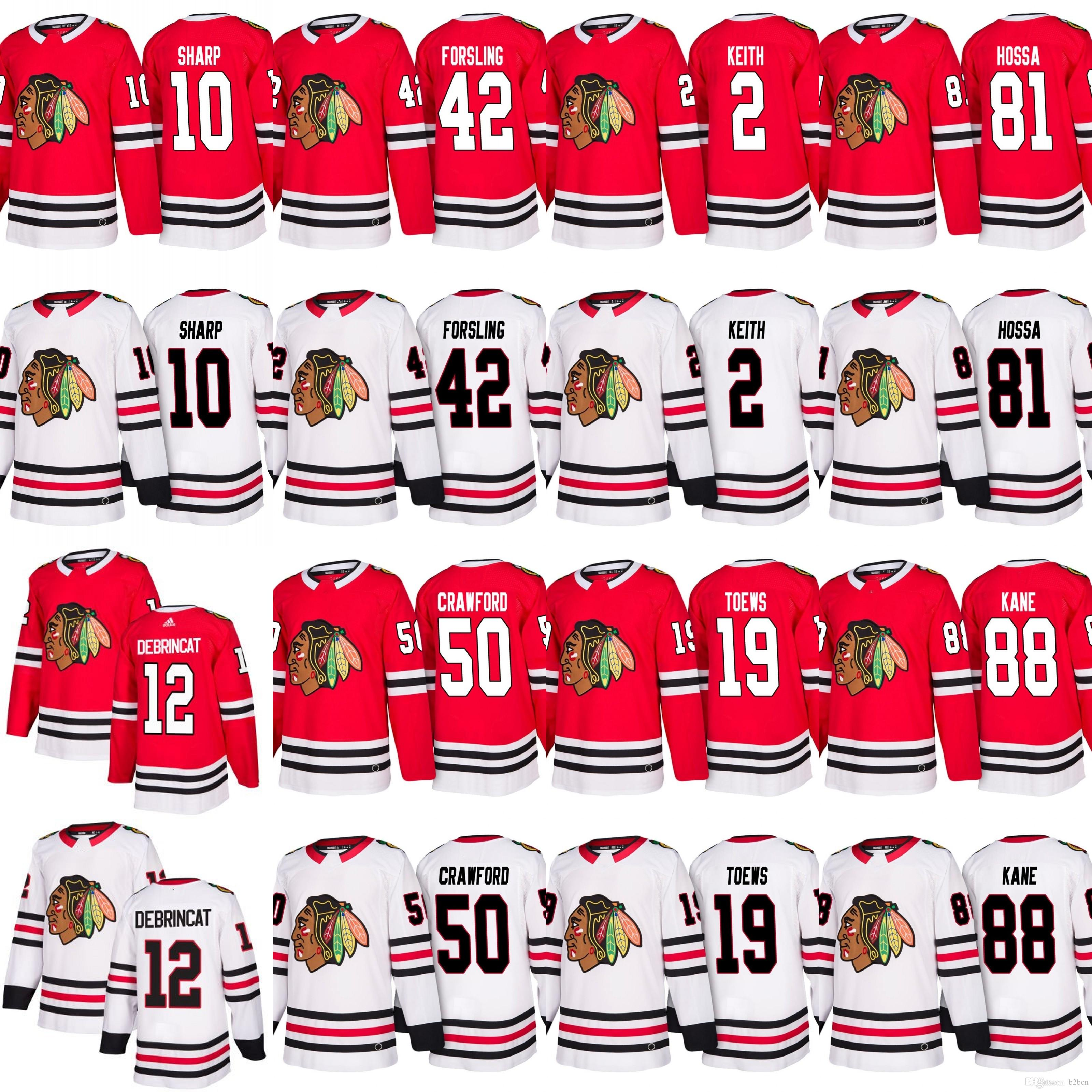 Men s 2017-2018 Season Chicago Blackhawks 19 Jonathan Toews 88 ... 9230cf322