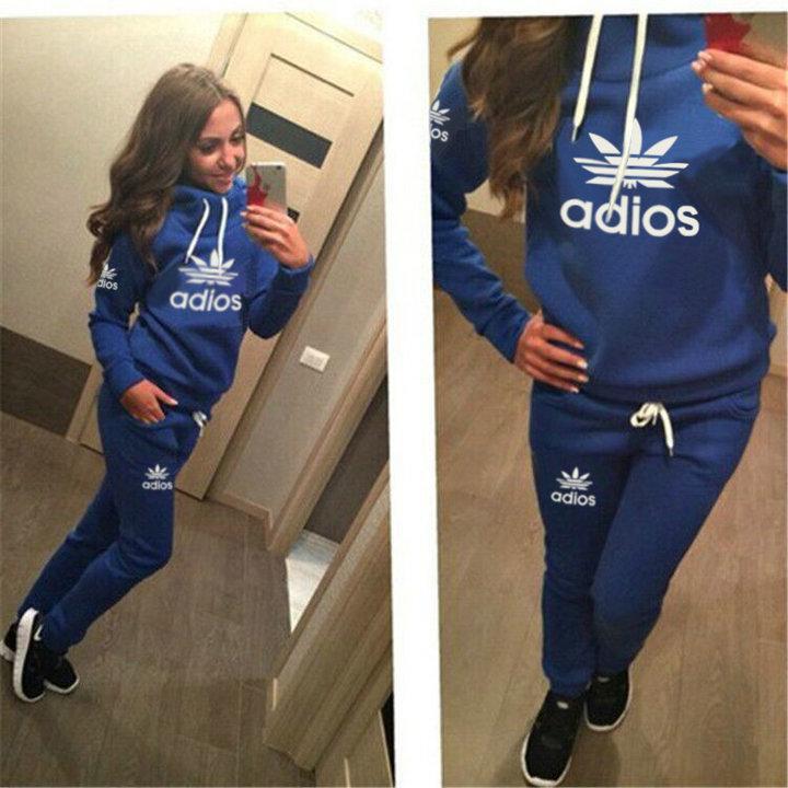 Hot Sale! New Women active set tracksuits Hoodies Sweatshirt +Pant Running Sport Track suits jogging sets survetement femme clothes