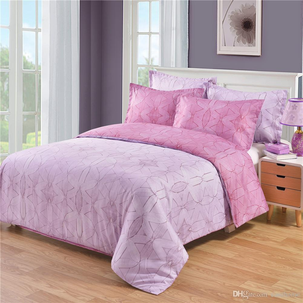 2018 New bedding set dovet set in solid dovet cover and pillow cases