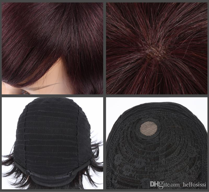 Afro kinky curl Glueless Cap Indian Remy human hair regular machine made Short wig Hot In-stock Pretty