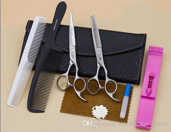 Leder Haarschere Taschen Fall Taille Pack Pouch Halter Hairdressing Werkzeuge Lederschien Haarschere Beutel Wallet Schere