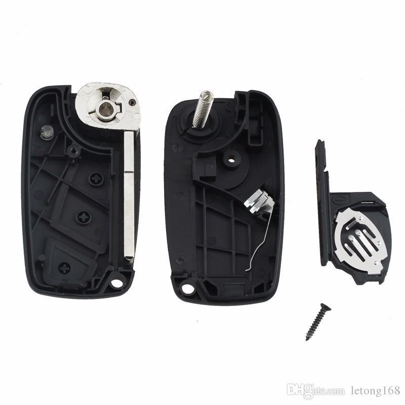 Replacement Car Key Shell For FIAT 3 buttons Punto Ducato Stilo Panda Flip Fob black Folding Remote Key Case
