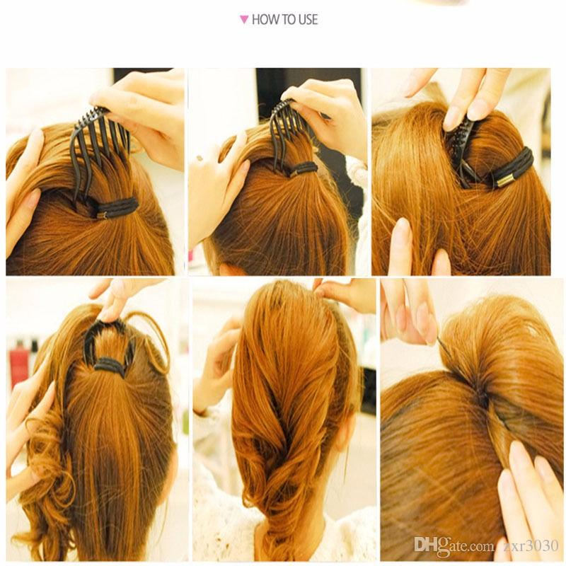 Hot Useful Women Girl Volume Inserts Hair Clip Bum pits Bouffant Ponytail Hair Comb Style Maker Headband Hair band Accessories