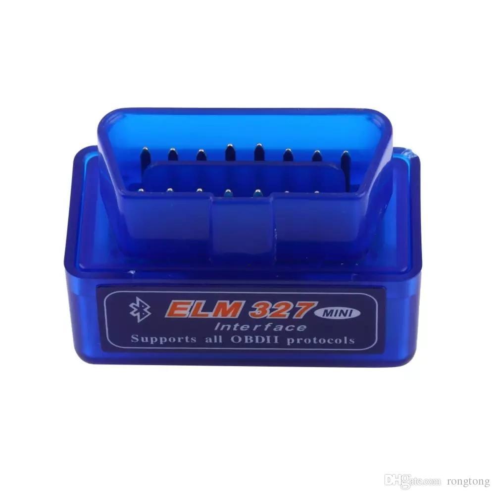New OBD V2.1 Super mini ELM327 OBD2 Bluetooth Auto Scanner OBD II 2 Car Scan ELM 327 Tester Diagnostic Tool for Android Windows Symbian 500