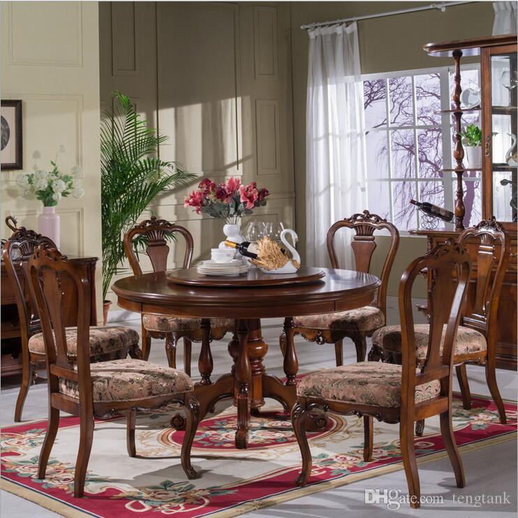 Luxury Dining Room Set: 2019 Antique Style Italian Dining Table, 100% Solid Wood