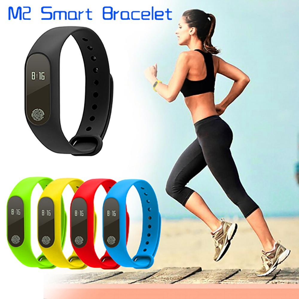 2017 New M2 Bluetooth4.0 Waterproof IP67 bandSmart Bracelet Heart Rate Monitor Health Fitness Tracker Smart Band Sleep monitor Wristband f