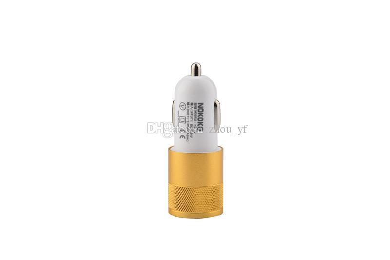 Melhor metal duplo porta USB Car Charger Universal 12 Volt / 1 ~ 2 Amp telefone para Samsung Galaxy / Motorola Droid Nokia HTC