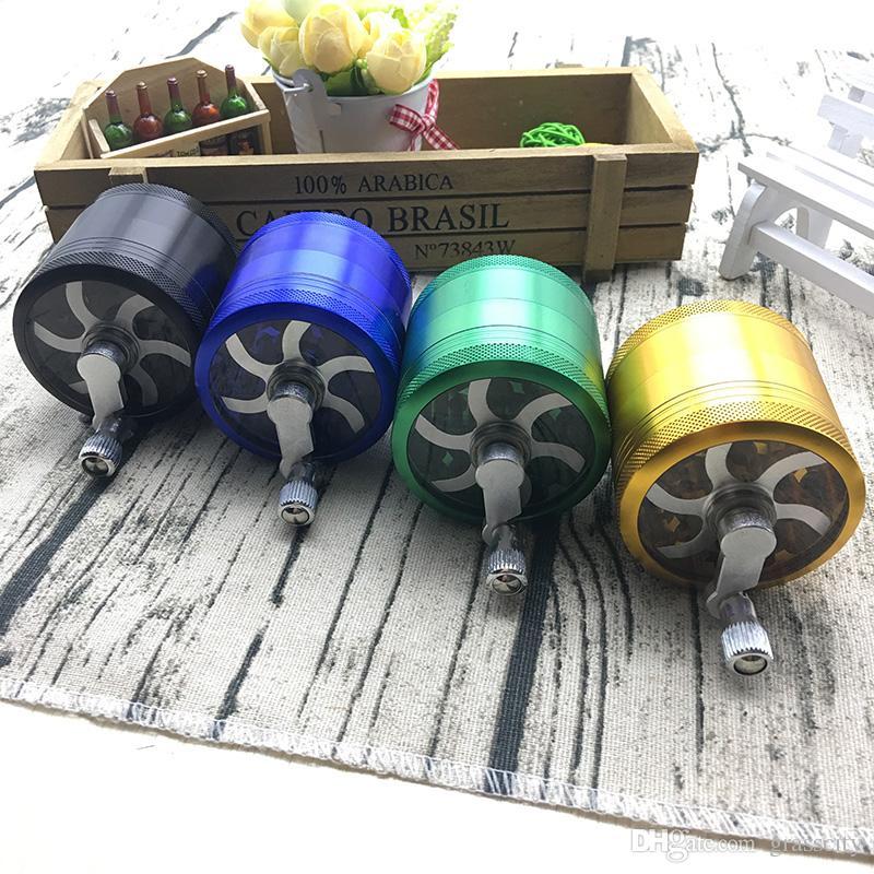 4 strati Herb Tabacco Spice Grass Grinder Usa Smoke Crusher Manovella Muller Mill Accessori fumatori