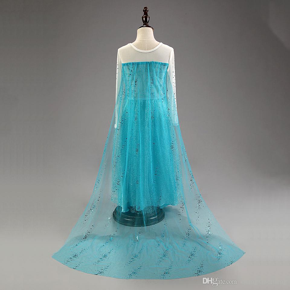 The Snow Queen Halloween costume cartoon princess dress girl children dress skirt Dress up party