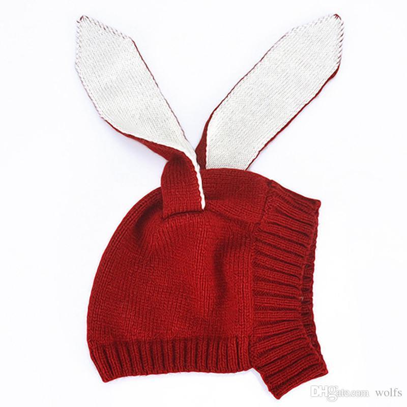 2019 Handmade Cute Newborn Baby Girl Crochet Deer Beanie Hat Xmas Christmas  Gift 87e4f33b1f8