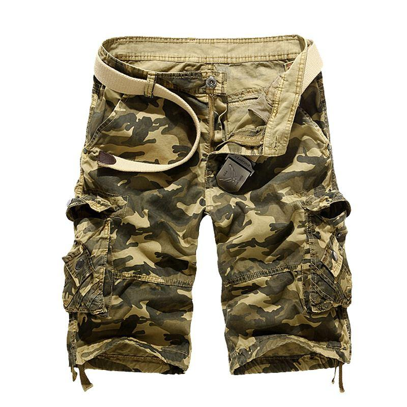 def1a040e7ed 2019 2017 Men Casual Cargo Short Mens Summer Style Overalls Camouflage  Loose Multi Pocket Cotton Shorts Men S Clothing Size 38 From Herish