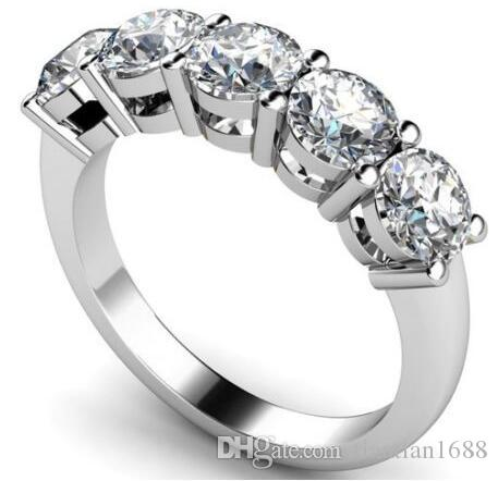 engagement diamond total aureo carats five ring rings