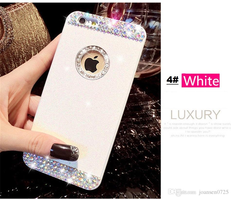 For iPhone 7 plus cases Luxury Diamond Glitter Hard Cell Phone Back Case Cover shell for iphone 7 6S plus 5S mobile phone