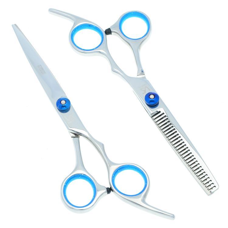6.0 Inch VS Forbici da taglio capelli Forbici da taglio Forbici da barbiere Set cesoie capelli JP440C con borsa da parrucchiere, LZS0115