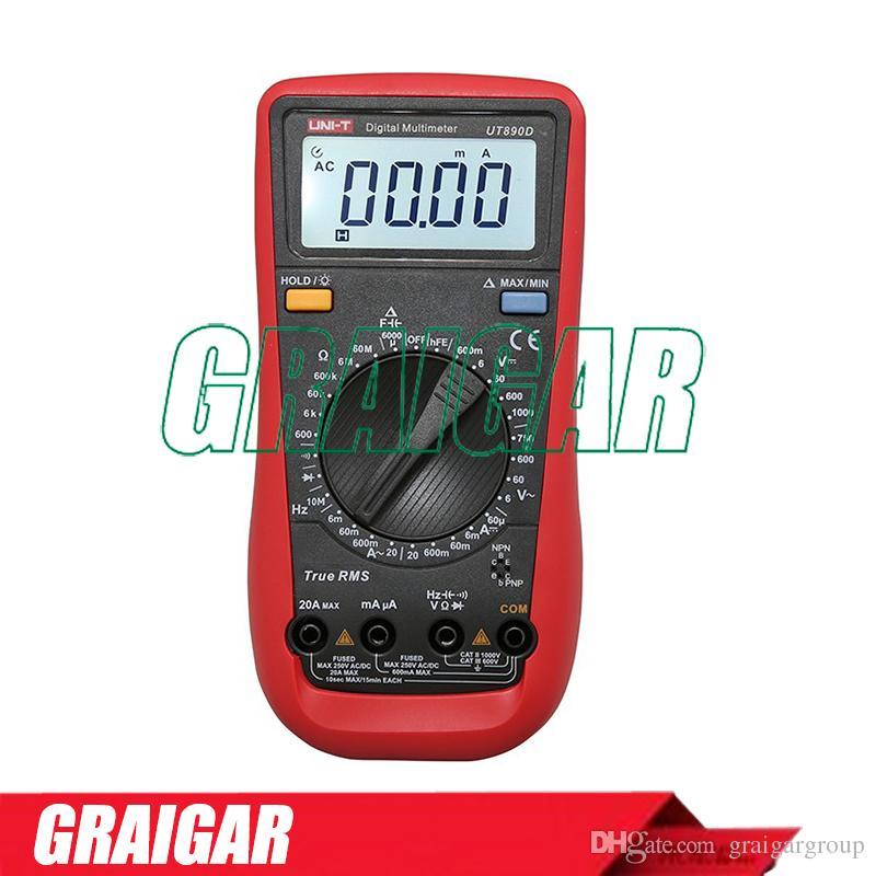 UNI-T UT890D Digital Multimeter High Precision Electrical Instrument for AC/DC Current Voltage Resistance Capacitance Frequency