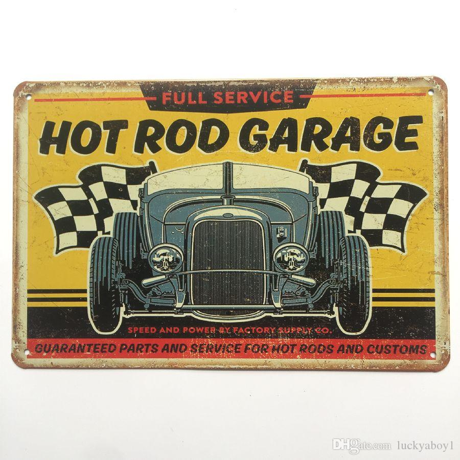 Champion Spark Hot Rod Garage Motor Oil Motor Oil Route 66 Wine Retro rustic tin metal sign Wall Decor Vintage Cafe Shop Bar home decor