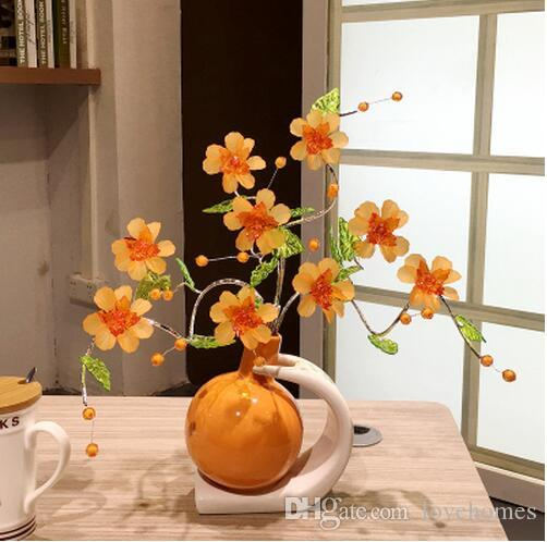 Modern Lucky ball 11 Shapes Ceramic Vase for Home Decor Tabletop this pirce is for a set vase and flowers together