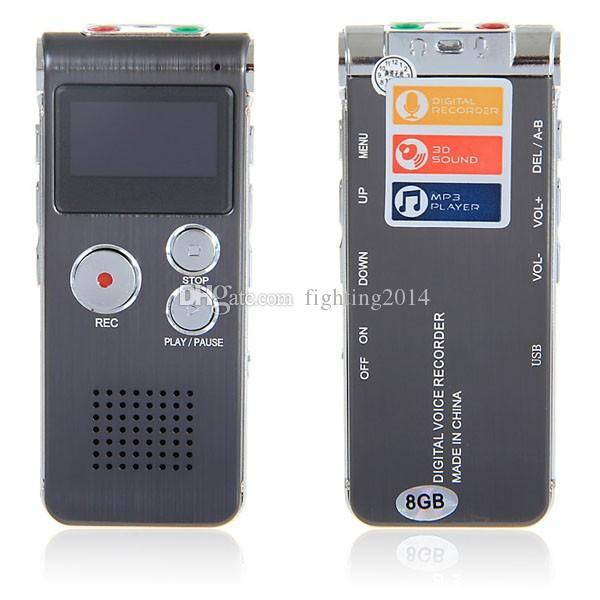 مصغرة مسجل صوت رقمي القلم الإملاء الصوتي 8GB HD تسجيل ذكي صوت نشط صوت مسجل الصوت الرقمي مع شاشة LCD