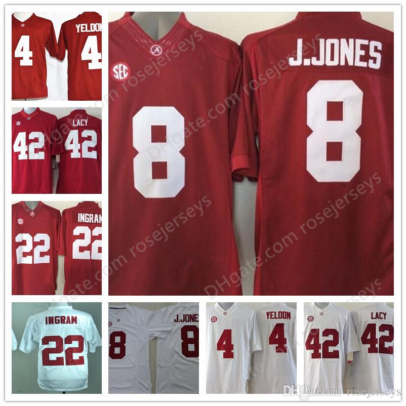 pretty nice 88c19 68233 where to buy crimson tide 8 julio jones red stitched ncaa ...