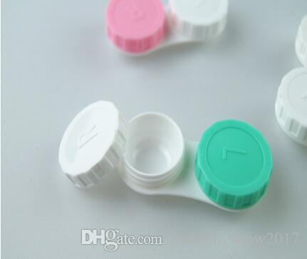 케어 용품 플라스틱 휴대용 미니 콘택트 렌즈 케이스 여행 콘택트 렌즈 홀더 컨테이너와 미러 쉬운 캐리