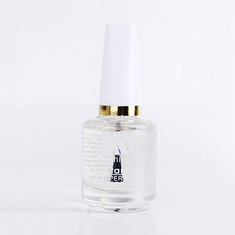 Wholesale-15ml Clear Top Coat Multi-Use Top Coat Transparent Nail Polish Topcoat Glossy Cover Surface Oil Varnish Nail Art Tool