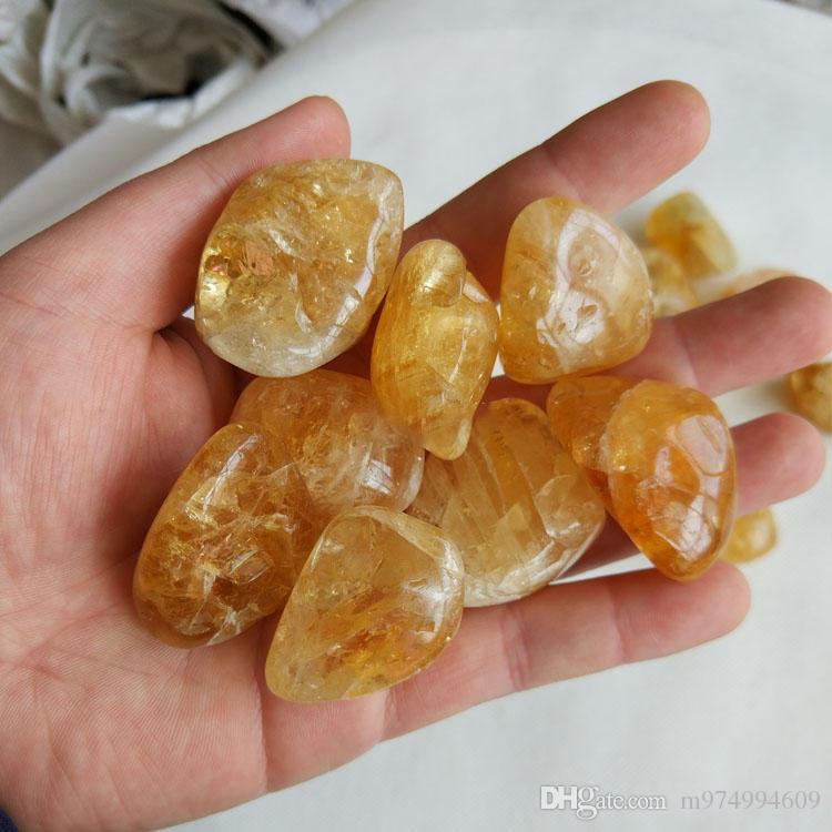 50g natural Original Yellow Crystal Natural Citrine Polished Gravel Specimen DIY Materials Stone and Mineral Stone