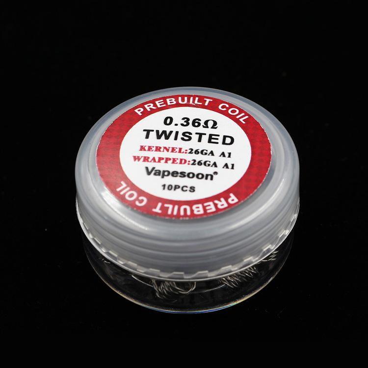 100% orijinal vapesoon premade bobin clapton alien kovanı sigortalı clapton quad kaplan mix bükülmüş ısıtma tel bobinleri 10 adet / kutu ePack ücretsiz kargo
