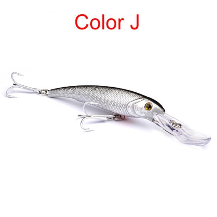 Новый бионический большой гольян приманка морская рыбалка ABS пластик кривошипные приманки 10 цветов 17 см 31 г 1/0# крючки глубокое погружение нахлыстом приманки