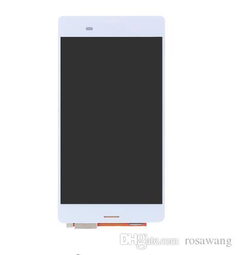 Display LCD bianco nero da 5,2 '' pollici Sony Xperia Z3 L55t D6603 D6653 LCD Vetro digitale touch screen completo di montaggio