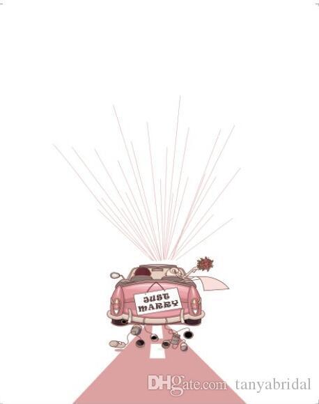 Grosshandel Pink Hochzeit Auto Benutzerdefinierte Fingerabdruck