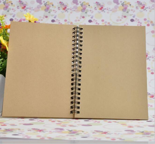 21x14cm Kraft Paper Notepad Office school Supplies Creative Sketchbook Graffiti Notepads Blank coil Notebook outdoor travelling pocket dairy