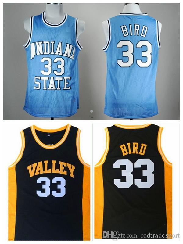 new concept 0587b 97aac indiana state sycamores 33 larry bird light blue authentic ...