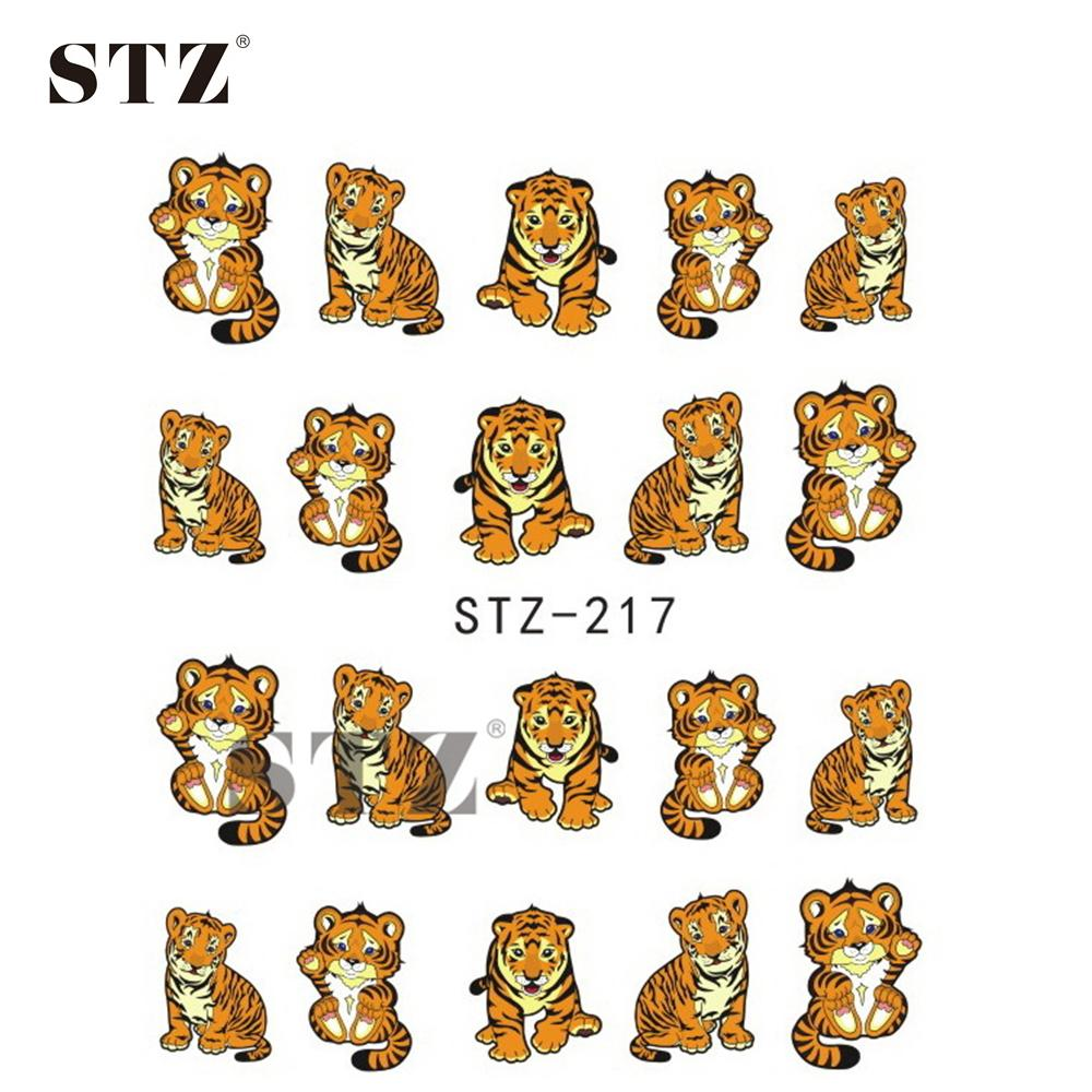 Wholesale 1sheets Water Sticker Nail Art Sticker Lovely Small Tiger ...