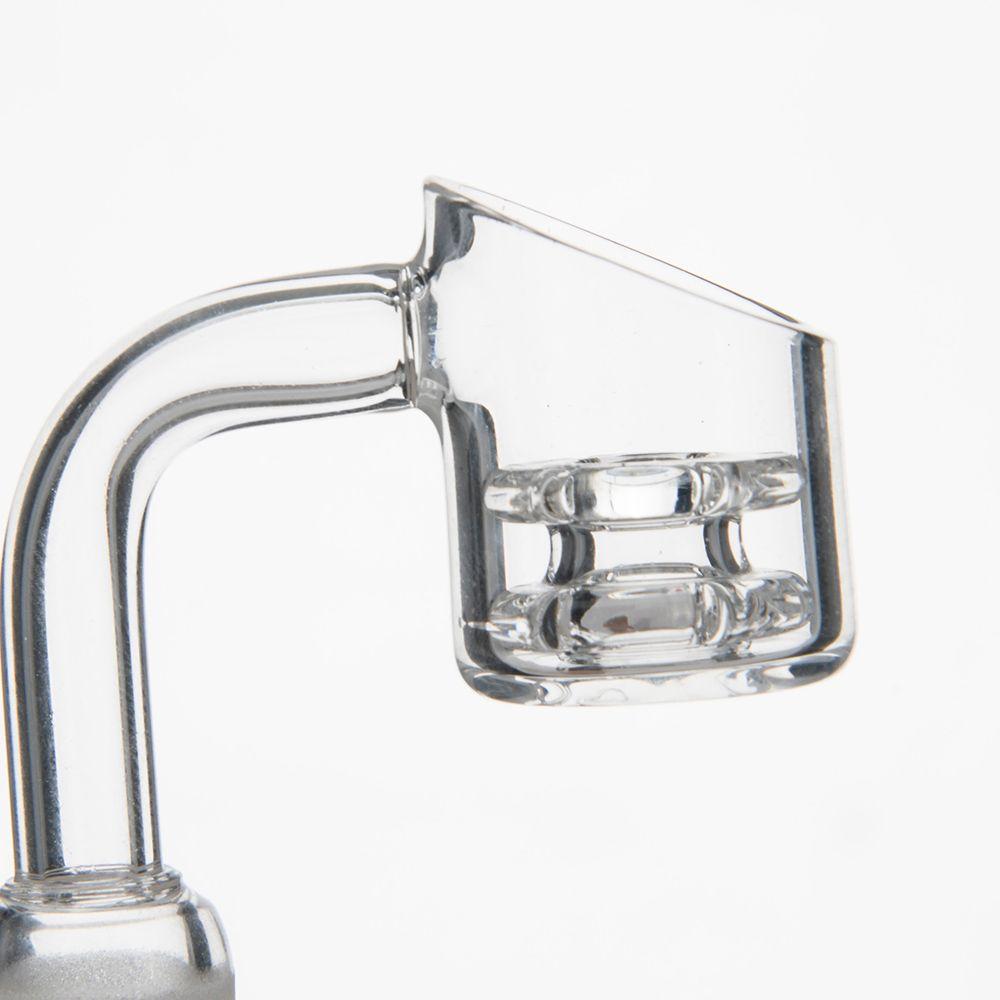 New Style Double Stack Diamant Knoten Quarz Nagel Quarz Banger Nagel 10mm 14.4mm 18.8mm für Bongs bei mr tupft