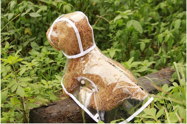 Waterproof Small Pet Dog Raincoats Waterproof Jacket Hooded Pet reain Coat Clothing Transparent Pet Dog Rainwear Size XS/S/M/L/XL
