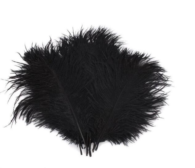 Pennacchio di piume di struzzo nero centrotavola di nozze Cuscino di nozze di casa di piume di Natale