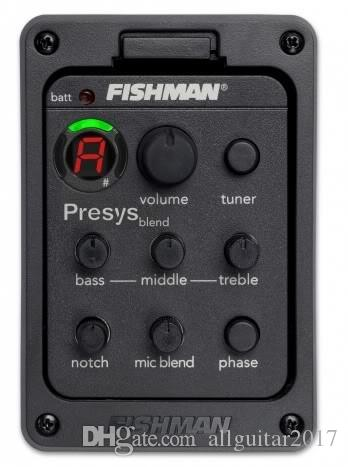Fishman 301 Pickups 4-Band EQ Equalizer Acoustic Guitar Preamp Piezo Pickup Guitar Tuner with Mic Beat Board