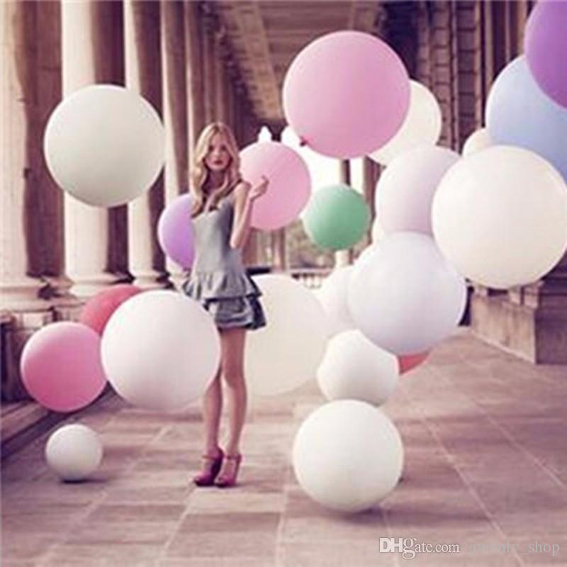 Wedding Decoration 36 Inch Big Large Balloons Inflable Latex Birthday Party Balloon Gold Silver Clear Wholesale Supplies Wiggles