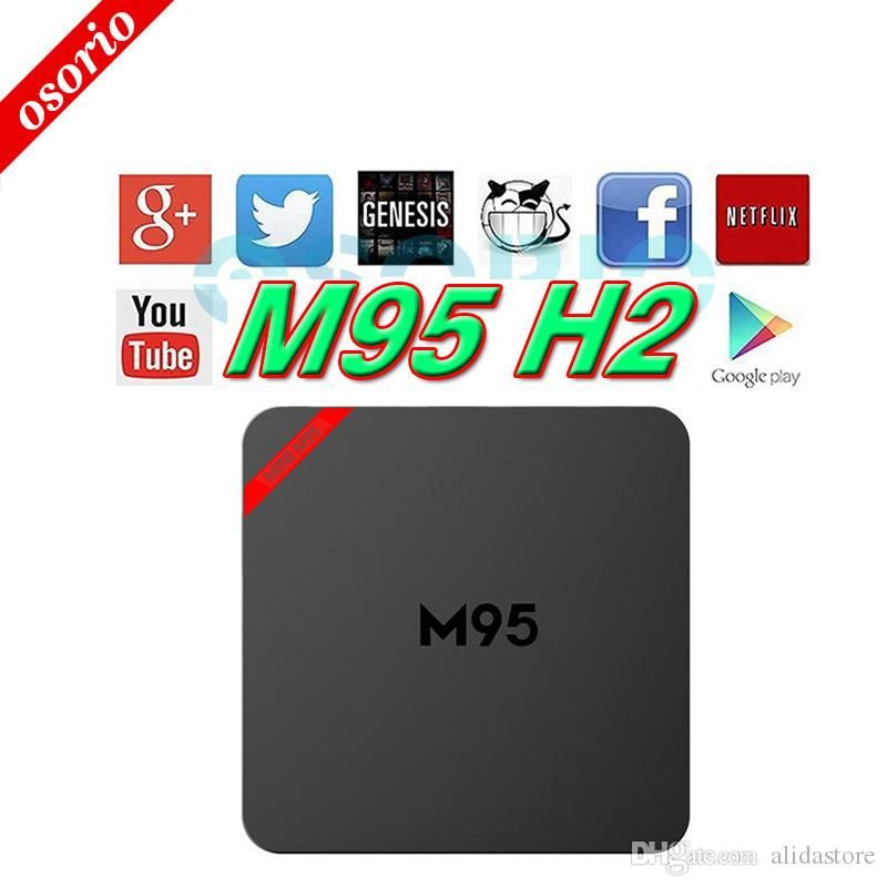 Hot Selling Android TV BOX M95 H2 1GB 8GB H265 3D KD 161 Pre Installed Fully Loaded Smart Media Player Set Top Box VS T95X A95X T95N Stream