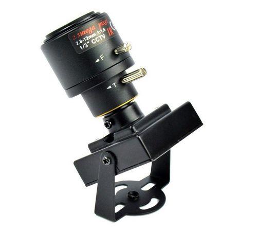 Mini telecamera ad alta risoluzione Vari-Focal 700tvl con audio, Mini obiettivo fotografico 2.8-12mm Mini macchina fotografica. Spedizione gratuita DHL / EMS