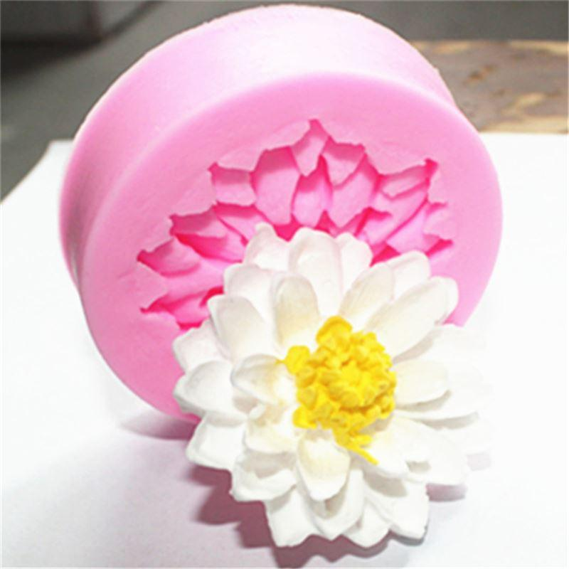 2019 Lotus Flowers Shape Chocolate Candy Silicone Cake Mold 3d