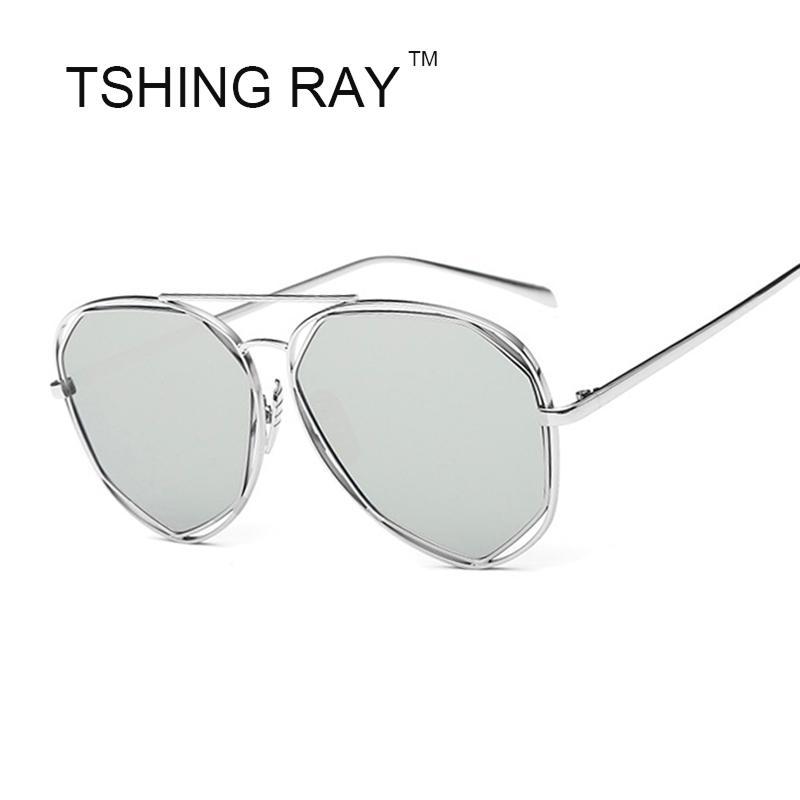 ddd4466ab9 Wholesale- 2016 New Pilot Sunglasses Men Women Hexagon Brand ...