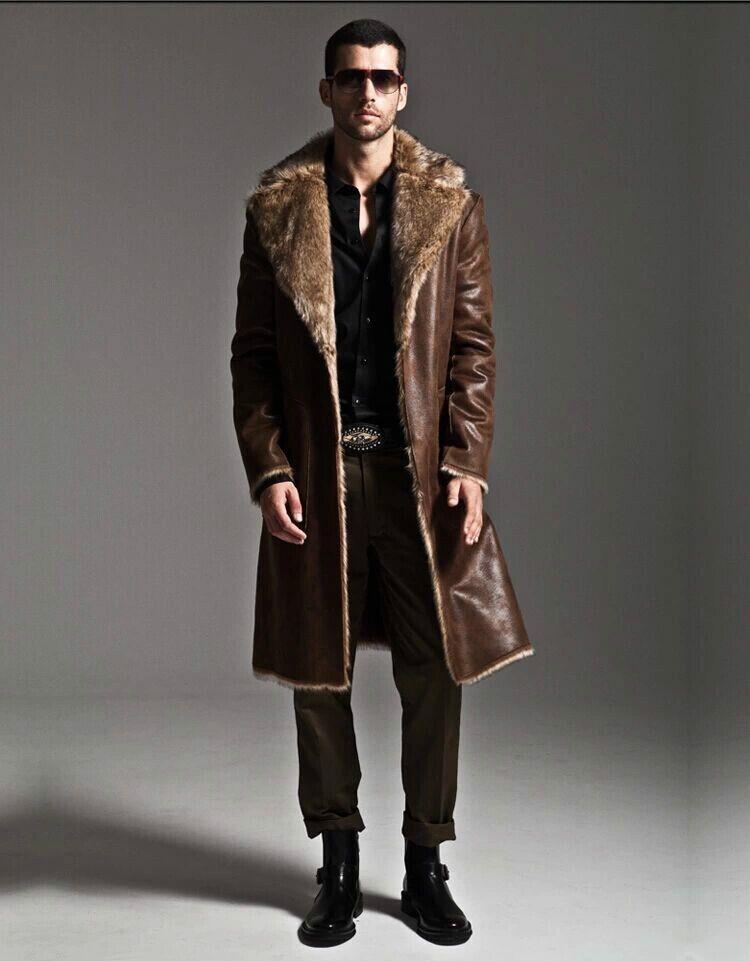 509dd41c33718 Compre Marrón Cálido Abrigo De Piel De Zorro De Imitación De Piel Abrigo De  Cuero Para Hombre Chaqueta De Cuero De Los Hombres Abrigo Villus Invierno  Suelta ...