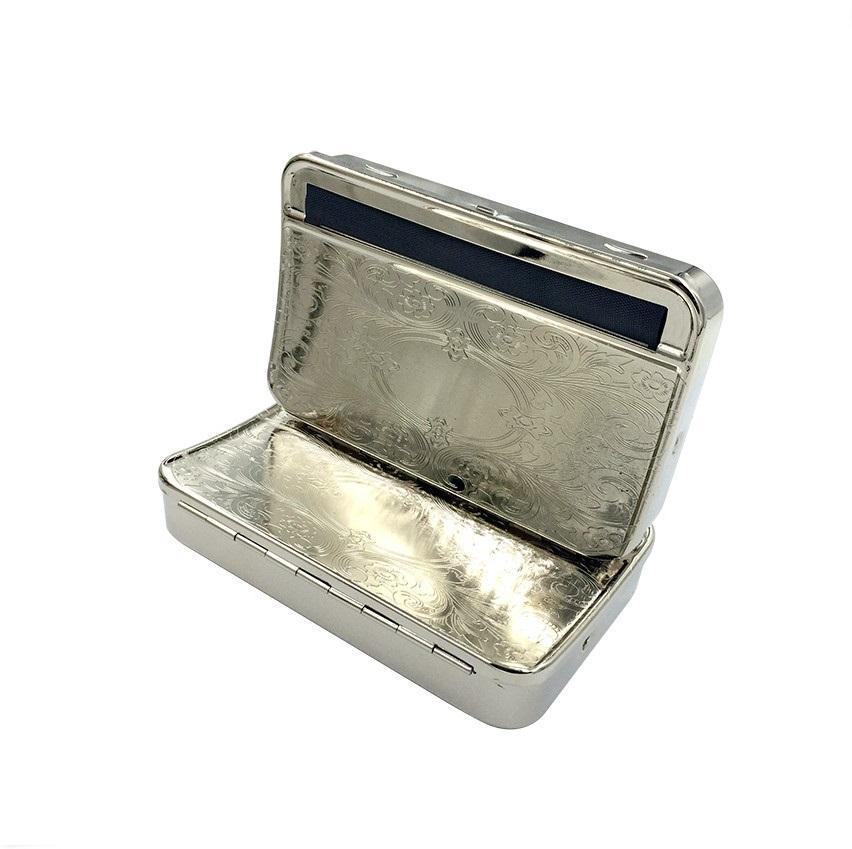 Trasporto libero 110mm metallo semi automatica sigaretta Rolling box macchina maker auto tabacco rullo di latta 110mm sigarette carte mano rulli
