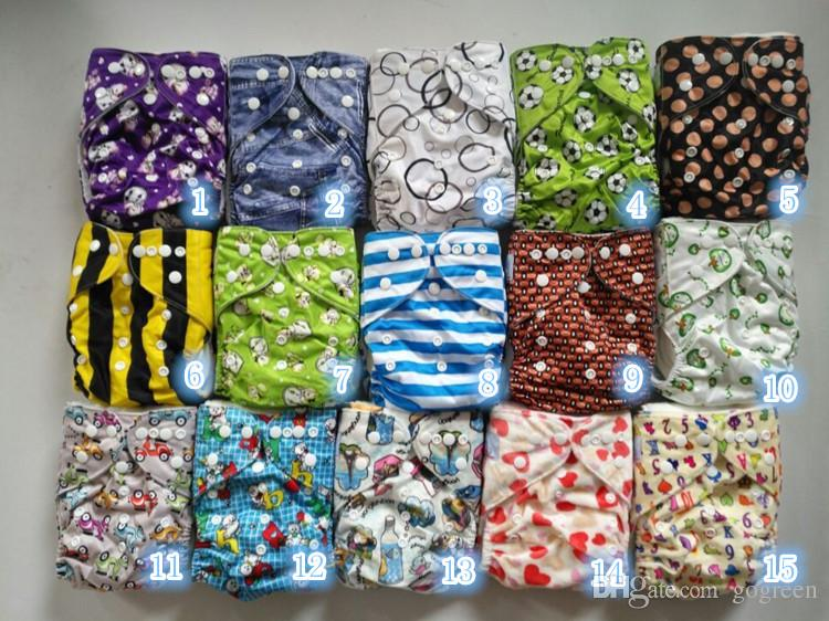 2017 Best BABY CLOTH DIAPERS ALL IN One Size Fitted Cloth Diaper,leg gusset washable nappies